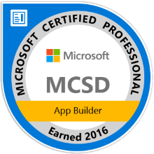 Microsoft Certified Solution Developer App Builder